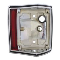 1970-72 El Camino & Station Wagon Chrome Tail Light Housing - Right / Passenger