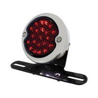 "LED ""Bobber""  Style Smoke Lens Tail Light & LED License Light Rear Fender Mount"