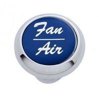 "Chrome Aluminum ""Fan/Air"" Dash Knob with Blue Aluminum Sticker"