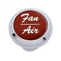 "Chrome Aluminum ""Fan/Air"" Dash Knob with Red Aluminum Sticker"