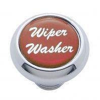 "Chrome Aluminum ""Wiper/Washer"" Dash Knob With Red Aluminum Sticker"