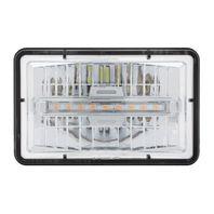 "High Power LED 4"" X 6"" Rectangular Low Beam Headlight w/ Amber Auxiliary Light"