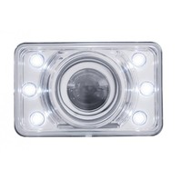 "4"" x 6"" Crystal Projection Headlight w/ LED Position Light - Low Beam Only"