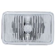 "6"" x 4"" Crystal Headlight - 5"" Rectangular - High & Low Beam"