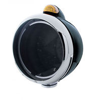 "UPI 31548 Black ""GUIDE""  Headlight - No Bulb w/ Amber LED/Amber Lens"