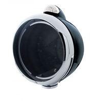 "UPI 31549 Black ""GUIDE""  Headlight - No Bulb w/ Amber LED/Clear Lens"