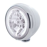 "UPI 32420 Stainless Steel Classic ""Guide"" Headlight W/ 34 White LED Halogen"