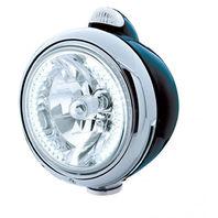 """UPI 32443 Black """"GUIDE""""  Headlight - 34 White LED H4 Bulb w/ Amber LED/Clear Len"""