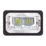 "4"" X 6"" Heated LED Headlight High Beam, Chrome, Universal"