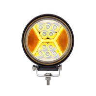"4.5"" 24 High Power Led Work Light With ""X"" Amber Light Guide, 5200 Lumens, IP67"
