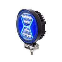 "4.5"" 24 High Power Led Work Light With ""X"" Blue Light Guide, 5200 Lumens, IP67"