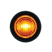 1 SMD LED Mini Clearance/Marker Light - Amber LED/Amber Lens - Truck Trailer Jee
