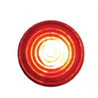 "Super Bright LED Indicator Light w/ Red Lens Fits 1/4"" - Hot Rod Rat Rod Custom"