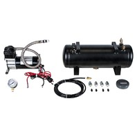 Heavy Duty 12V 140 Psi Air Compressor Kit With 1.5 Gal Tank, Includes Pressure Gauge, Air Hose & Fittings