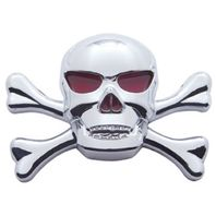Chrome Plastic Skull Accent Universal Fit