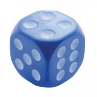 "Blue & White Dice Gearshift Knob 1-7/8"" Square High-impact Plastic Universal Fit"