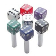Hot Rod Dice Door Lock Pulls Black with White Dots 2 Piece Set