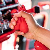 "4-1/4"" Stress Ballz Novelty Keychain, Red"