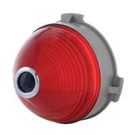 1953 Center Red Plastic Stop Lens W/Blue Dot