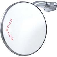 "4"" Peep Mirror With LED Turn Signal & Wide Angle Optics"
