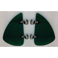 Vintage Style Green Accessory Vent Wing Air Deflector Breeze Breezies Pair