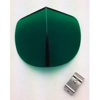 Vintage Style Green Hood BI-FLECTOR Windshield Reflector