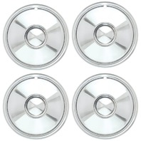 "Chrome 16""  Bullet Style Sombrero Hub Cap Set Of 4"