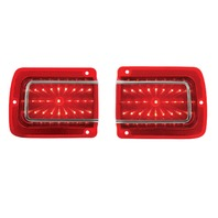 LED Tail Lights w/ Trim and Lens - Fits 1965 Chevelle/Malibu - High Quality