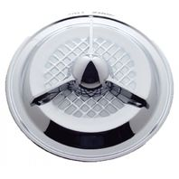 "UPI SHC02-3 15"" Chrome Tri Bar Hub Cap"