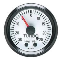 VDO Cockpit White Turbo Boost, 25 PSI/30 InHg, Fits VW BUG AIR COOLED, 150206