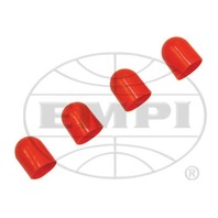 VW AIR COOLED VDO LIGHT DIFFUSERS RED, FOR PEANUT BULB, 4 PC SET 600859