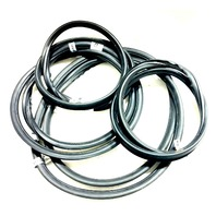VW Bug Window Rubber Seal Kit, 1958-1964, American Chrome Style