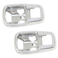 Door Pull, Chrome Plastic, Pair, Fits VW Bug T-1 67-79, Ghia 64-74, Bus 68-79