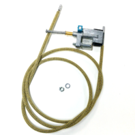 Sunroof Cable, Left with Flipper, Compatible with VW Type 1 Beetle 1964-1977