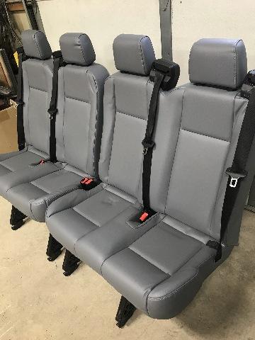 15 18 Ford Transit Van Oem Pewter Gray Vinyl 4 Passenger