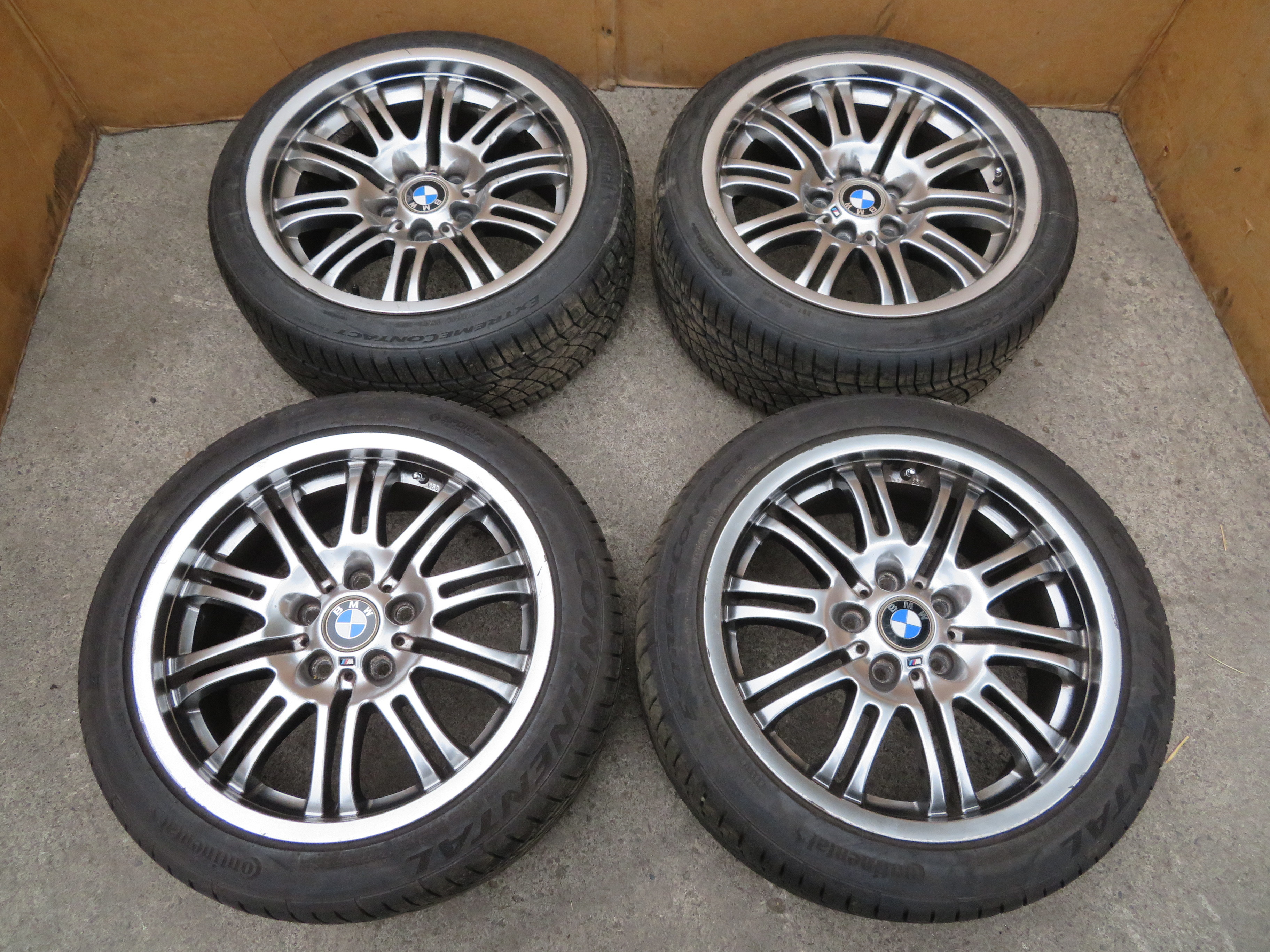 01 06 Bmw M3 E46 1071 Oem 18 Staggered Wheels Tires Style 67 Pk Auto Parts Inc