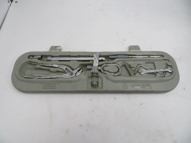 1995 BMW M3 E36 Coupe #1070 Trunk Tool Kit Shelf W/ Tools Tow Pliers Wrench