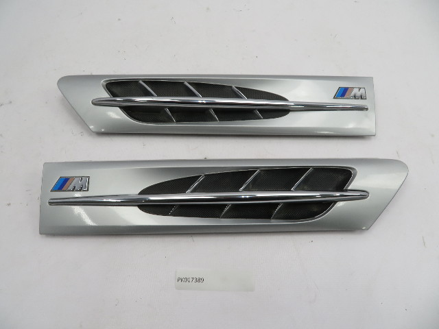 96-02 BMW Z3 M Roadster E36 #1079 Hood Grill Gill Set Exterior Pair Silver OEM