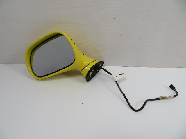 BMW Z3 Roadster E36 #1100 Exterior Power Side Mirror Left Driver Yellow