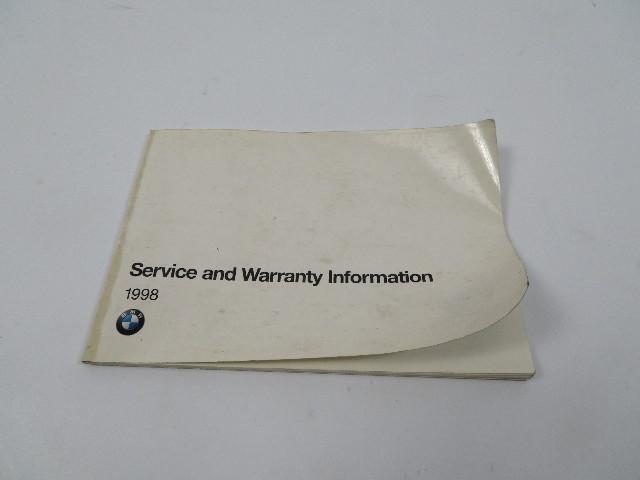 BMW Z3 M Roadster E36 #1104 Owner's Service & Warranty Information Manual