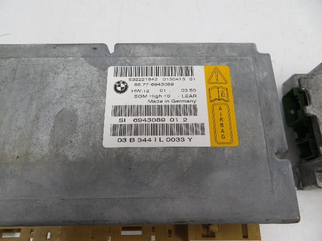 04 Bmw 645ci 650i E63  1131 Module Set  Gateway Airbag Control Unit Srs 65776941