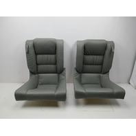 91-97 BMW 840ci 840i E31 #1051 Rear Grey Leather Folding 2-Piece Seats
