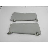 91-97 BMW 840ci 840i E31 #1051 Grey Leather Sunvisor Set Pair OEM