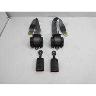 91-97 BMW 840ci 840i E31 #1051 Rear Grey Seatbelt & Clip Receiver Set