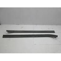 91-97 BMW 840ci 840i E31 #1051 Door Sill Carpet Holder Trim Set Pair Grey