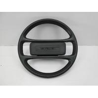 1978-1986 Porsche 928 S #1054 Original Black Leather Steering Wheel W/ Pad