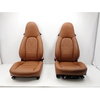 2001 Porsche 911 Turbo 996 #1055 Front Power Heated Leather Seats Natural Brown