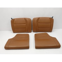 2001 Porsche 911 Turbo 996 #1055 Rear Seats Leather Natural Brown