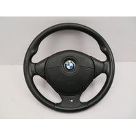 BMW Z3 M Roadster E36 #1057 3-Spoke Leather Steering Wheel & Airbag