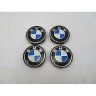 96-02 BMW Z3 M Roadster M3 E36 #1057 OEM Wheel Center Caps 1095361 68mm